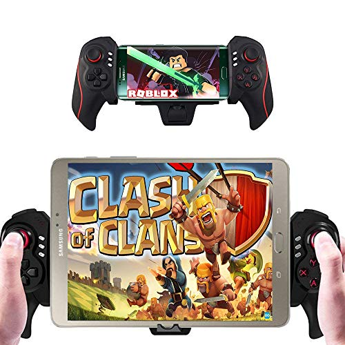 XFUNY Wireless Bluetooth Telescopic Controller Gamepad with 4.7 to 10.6 inches Clip for Android Smartphone Tablet Samsung Galaxy Series - Support Android 4.0 or Above System / PC (Samsung Galaxy S2 Case Minecraft)