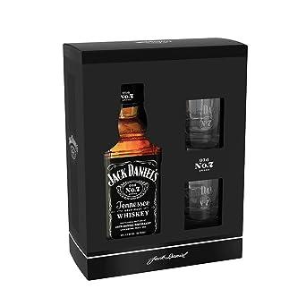 Jack Daniel S Old No 7 Geschenkkarton 2 Original Glaser Ideal Zum Verschenken 1 X 0 7 Liter