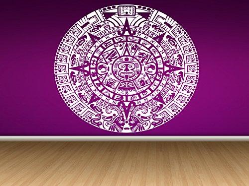Beautiful Wall Room Decor Art Vinyl Sticker Mural Mayan Calendar Aztec God AS155