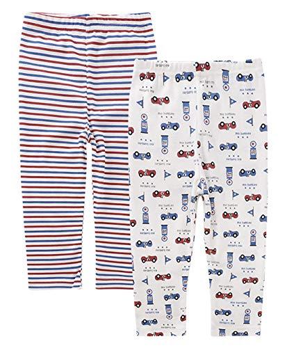 (AIEOE Infant Toddler Baby Boys Pajamas 2 Pack Soft Car Cotton Pants Trouser 5T)