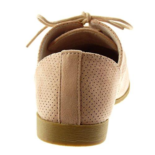 Zapatillas Perforado Mujer Derby Zapato Moda Tac Angkorly fwqBdpp