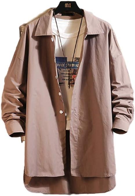 [ユケ二ー]トレンチコート コート メンズ 質感 日焼け止め 薄シャツ 無地 アウター 大きいサイズ パーカー ファッション ジャケット ゆったり