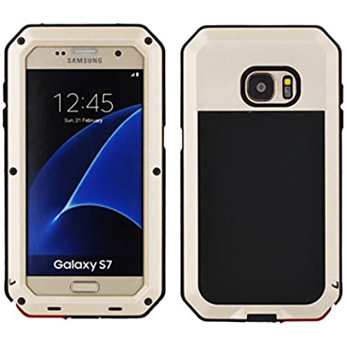 Galaxy S7 Case, Tomplus [Newest] Extreme Hard Luxury Aluminum Alloy Protective Metal Full-body Rugged Holster Sales