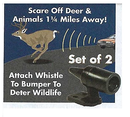 Trenton Gifts Automotive Car Safety Self Adhesive Deer & Wildlife Warning Whistle - Set of 6