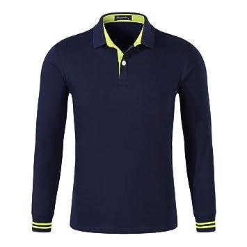 NISHIPANGZI Los Hombres Camisas Polo Moda Collar Logo Camisetas ...