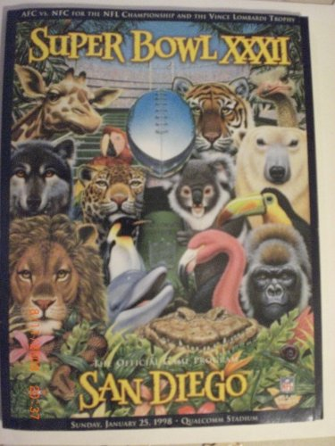 SUPER BOWL XXXII: The Official Game Program; San Diego; for sale  Delivered anywhere in USA