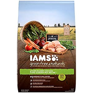 IAMS GRAIN-FREE NATURALS Adult Chicken and Pea Recipe Dry Dog Food 10.3 Pounds