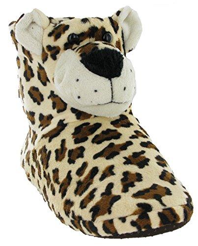 shoeshoebedo Mädchen Hausschuhe Leopard