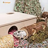 Niteangel Natural Wooden Hamster Mouse Tunnel