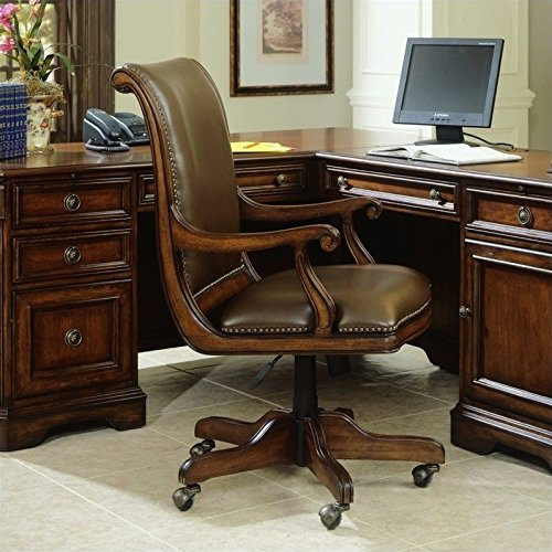Hooker Furniture Brookhaven Computer - Hooker Furniture Brookhaven Desk Chair in Medium Clear Cherry