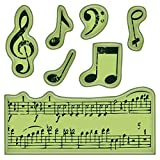 Inkadinkado Mini Cling Stamps, Music Notes