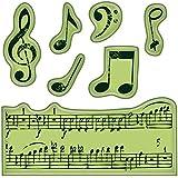 Inka Dinkado Mini Cling Stamps, Music Notes
