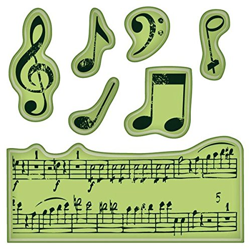 Inkadinkado Mini Cling Stamps, Music Notes