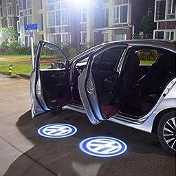 LIGHTUPRO 2 Pcs LED Laser Projector for Volkswagen Logo Step Door Courtesy Welcome Light Ghost Shadow VW
