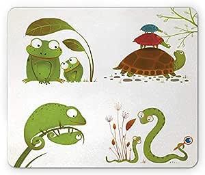 SHAQ Reptile Mouse Pad Alfombrilla de Ratón, Reptile Family ...
