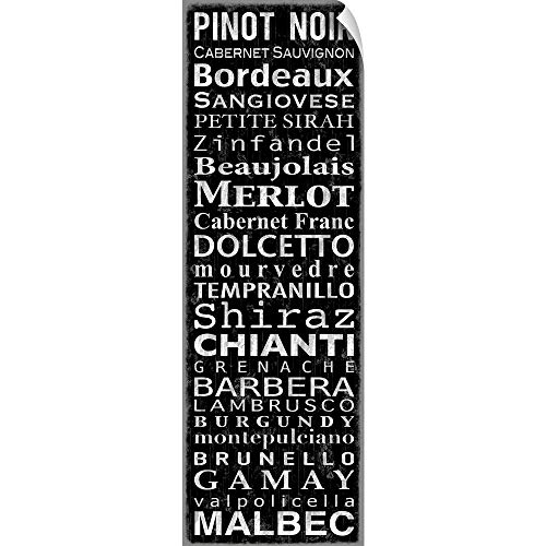 CANVAS ON DEMAND Wine, Black Wall Peel Art Print, 30