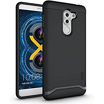 Honor 6X Case, TUDIA Slim-Fit HEAVY DUTY [MERGE] EXTREME Protection / Rugged but Slim Dual Layer Case for Huawei Honor 6X (Matte Black)