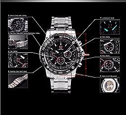 SHARK Military 6 Hands Date Day Analog Men\'s Quartz Waterproof Sport Wrist Watch SH015