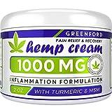 Pain Relief Hemp Cream 1000 Mg - Hemp Extract Cream for Inflammation