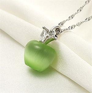 1 Piece Beautiful Apple necklaces (Pink)