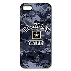 U.S. Army Wife, Military Wife pattern for black plastic iphone 5,5s case
