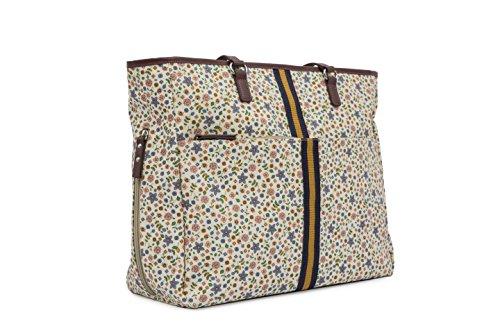 Color rosa y forro Henrietta caja de herramientas familias con diseño de abejas en los cambios de bolsas de plástico para