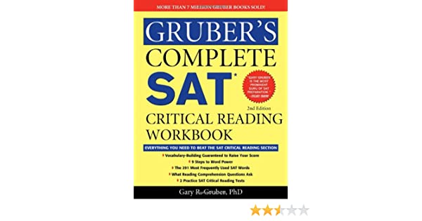 Workbook free high school reading comprehension worksheets : Gruber's Complete SAT Critical Reading Workbook: Gary Gruber ...