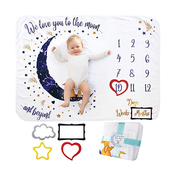 Baby-Monthly-Milestone-Blanket-Girl-Or-Boy-Unisex-Month-Blanket-Baby-for-Pictures-Personalized-Shower-Gifts-New-Moms-Track-Growth-Age-Soft-Thick-Large