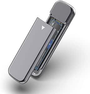 Rocketek - Caja de disco USB 3.1 Gen 2 sin herramientas para unidad de estado sólido M.2 NVMe. Base portátil para SSD M.2 NVMe con USB tipo C de 10 Gbps, cable
