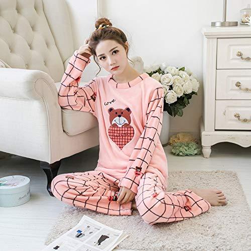 Cálido Pijama Para Conjunto 358 R Con Dormir Ropa Pijamas H Pantalón Invierno Largo Otoño De Jylw Mujer wgpTvXn