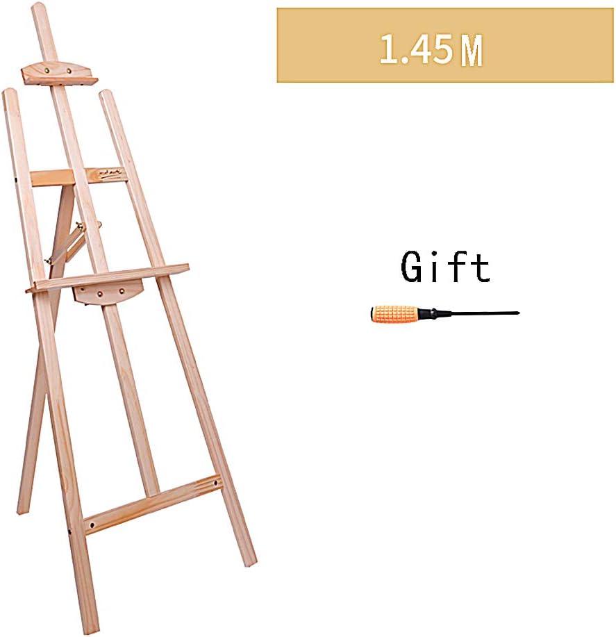 Principiante S/ólido Aceite de Madera de la Pintura de Caballete de Madera Soporte for Adultos Tablero de Dibujo Sketching Caballete Conjunto R//19//12//18 Color : A