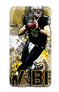 For Galaxy Note 3 Premium Tpu Case Cover Drew Brees Protective Case