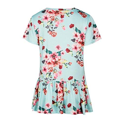 Damen Shirt155 SANFASHION Multicolore Multicolore Donna Verde SANFASHION Bekleidung Ballerine qtEPPw
