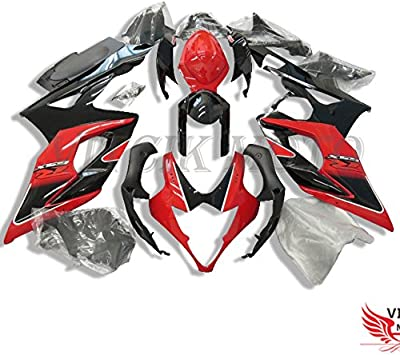 NT FAIRING Red Black Injection Mold Fairing kits Fit for Suzuki 2005 2006 GSXR 1000 K5 05 06 GSX-R1000 Aftermarket Painted ABS Plastic Motorcycle Bodywork