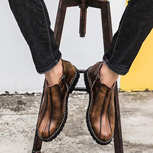 Brogue Brogue Brogue Pelle Pelle Boots Boots Boots Boots Stivaletti Chelsea Scarpe Desert Nero Brown Classico Uomo Stivali Martin in Stivali Oxblood retrò Alte xfORSR