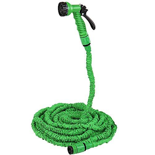 Jago Flexibler Gartenschlauch Wasserschlauch regulierbar mit 7 Funktionen und Längenwahl (30 m)