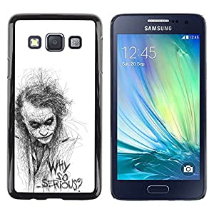 Impact Case Cover with Art Pattern Designs FOR Samsung Galaxy A3 Why So Serious Sketch Movie Character Betty shop