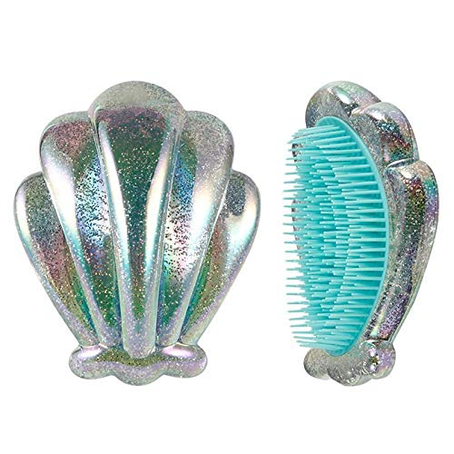 Seashell Shape Shampoo Scalp Shower Washing Hair Massage Massager Brush Comb (Color - Green)