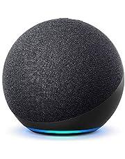 Echo (4e generatie) Internationale versie   Met premium sound, smart home hub en Alexa   Antraciet   Nederlandse taal niet beschikbaar