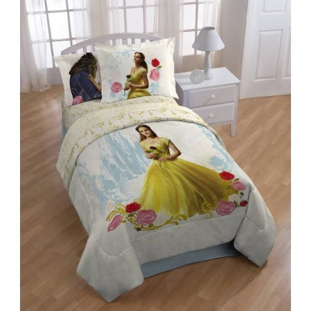 Disney's Beauty and the Beast 'Romantic Beauty' Kids Multicolor Polyester Bed-in-a-Bag Sheet Set Includes Flat sheet, Fitted sheet with a 10