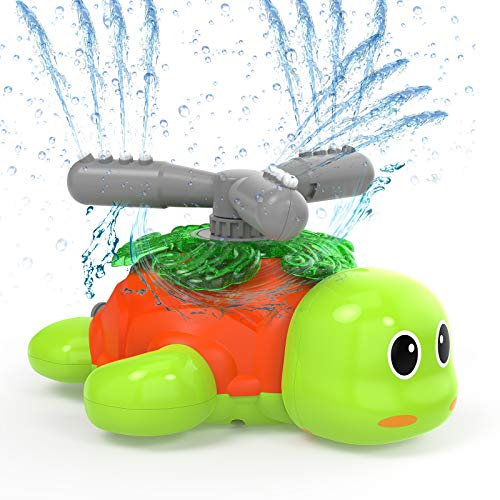 Kiztoys Water Sprinklers for Kids and Toddler Outdoor Play,Turtle Sprinkler of Yard, Pool Toy Sprinkler for Boys and Girls, Outdoor Lawn Sprinkler Toy, Splashing Fun for Summer Days