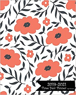 Buy 2019 2021 Three Year Planner Red Flowers 36 Months Planner And