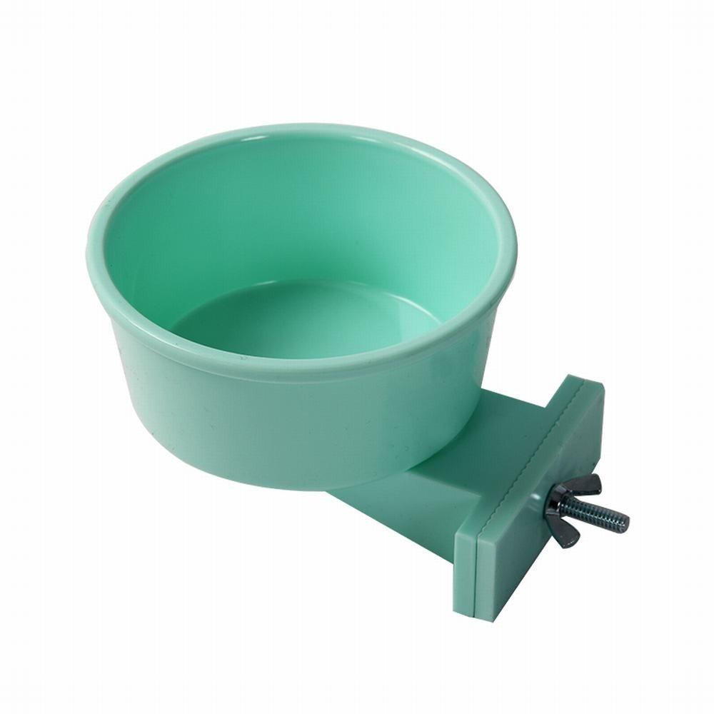 The green WU-pet Supplies Mount cat Bowl Food Bowl pet Bowl Dog Bowl Small Dog-tae, Green
