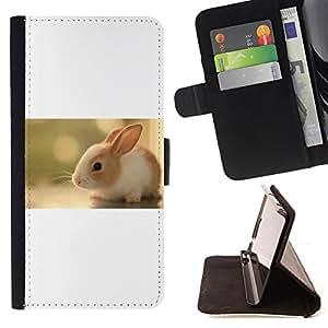 Devil Case- Estilo PU billetera de cuero del soporte del tirš®n [solapa de cierre] Cubierta FOR LG Optimus G2 D800 D801 D802 D803 VS980 F320- Rabbit Cute