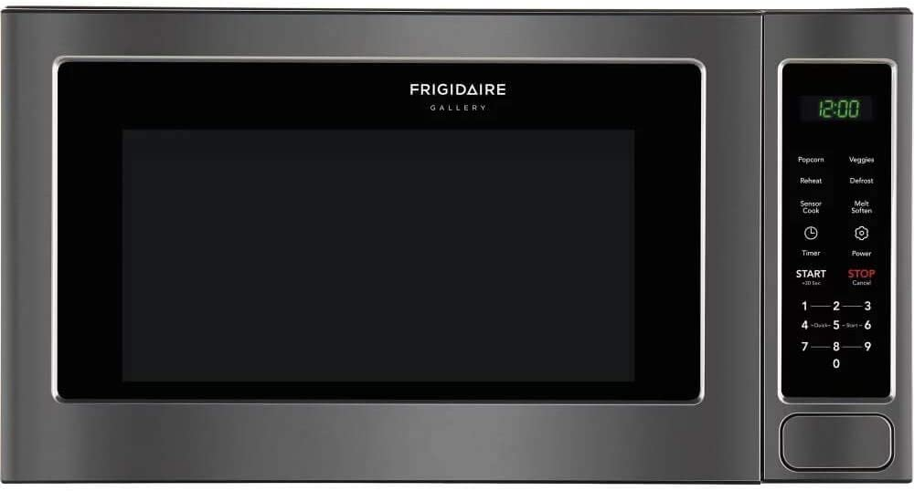 Frigidaire FGMO206NTD Gallery Series 2 cu. ft. Capacity Countertop Microwave with 1200 Cooking Watts in Black Stainless Steel (Renewed)