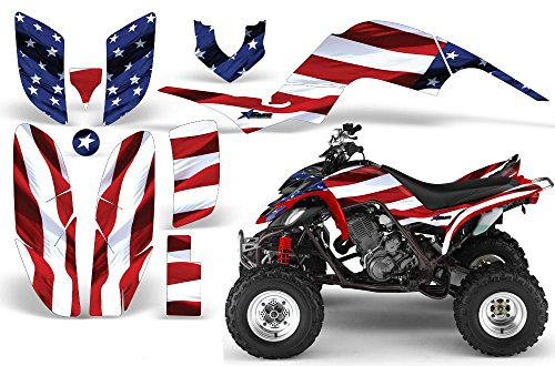 (2001-2005- Yamaha Raptor 660 AMRRACING ATV Graphics Decal Kit:Stars and Stripes)
