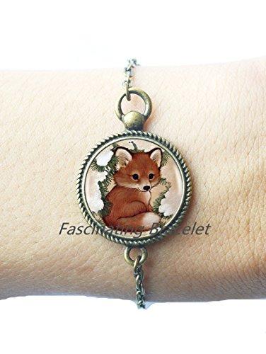 Cute Baby Fox Bracelets Choker Statement Silver Bracelet For Women Dress Accessories-JewelryAE0077