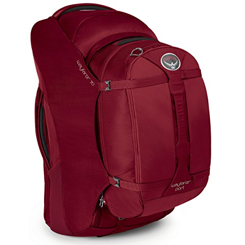 Osprey Wayfarer Travel Pack, Garnet Red, - World Travel Wayfarers