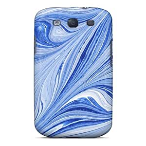 New Style Tpu S3 Protective Case Cover/ Galaxy Case - Blue Lines