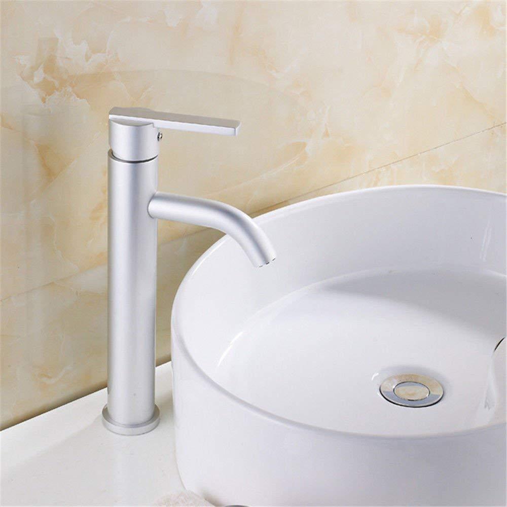 Eeayyygch Küchenarmatur Sink Mischbatterien Space Aluminium Kitchen Sink Basin Mischbatterie Space Aluminium Single-Sink Bad Wasserhahn Mischbatterien (Farbe   -, Größe   -)